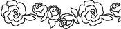 "Roses 4""X15"" - Quilt Stencils"