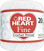White - Red Heart Fine Crochet Thread Size 20