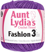 Purple - Aunt Lydia's Fashion Crochet Thread Size 3