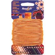 Metallic Gold - Needloft Novelty Craft Cord 20yd