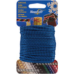 Metallic Blue - Needloft Novelty Craft Cord 20yd