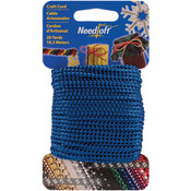 Metallic Blue - Needloft Novelty Craft Cord 20yd
