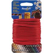 Metallic Red - Needloft Novelty Craft Cord 20yd