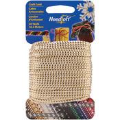 Metallic White & Gold - Needloft Novelty Craft Cord 20yd