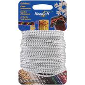 Metallic White & Silver - Needloft Novelty Craft Cord 20yd