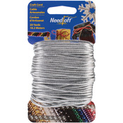 Solid Silver - Needloft Novelty Craft Cord 20yd