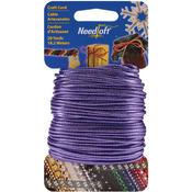 Solid Purple - Needloft Novelty Craft Cord 20yd