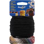 Solid Black - Needloft Novelty Craft Cord 20yd