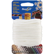 Solid White - Needloft Novelty Craft Cord 20yd