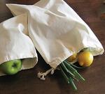 "Natural - Reusable Canvas Produce Bag 13""X17"""