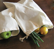 "Natural - Reusable Canvas Produce Bag 13""X17"""