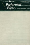 "White - Perforated Paper 14 Count 9""X12"" 2/Pkg"