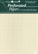 """Ecru - Perforated Paper 14 Count 9""""X12"""" 2/Pkg"""
