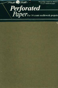 """Antique Brown - Perforated Paper 14 Count 9""""X12"""" 2/Pkg"""