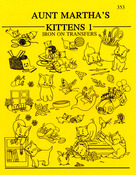 Kittens - Aunt Martha's Iron-On Transfer Book