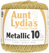Gold/Gold - Aunt Lydia's Metallic Crochet Thread Size 10