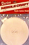 "Circles Clear - Plastic Canvas Shapes 7 Count 4.5"" 10/Pkg"