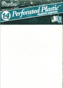 "White - Perforated Plastic Canvas 14 Count 8.5""X11"" 2/Pkg"