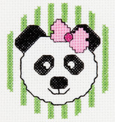 "3"" Round 14 Count - My 1st Stitch Panda Mini Counted Cross Stitch Kit"