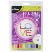"3"" Round 14 Count - My 1st Stitch Love Mini Counted Cross Stitch Kit"