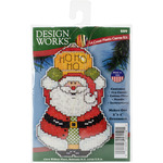 "4""X3"" 14 Count - Santa Ornament Plastic Canvas Kit"
