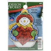 """4""""X3"""" 14 Count - Snowman Ornament Plastic Canvas Kit"""