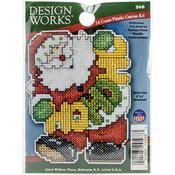 "4""X3"" 14 Count - Ho Ho Santa Ornament Plastic Canvas Kit"