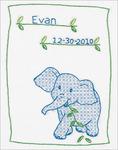 "Elephant - Stamped White Sampler 8""X10"""