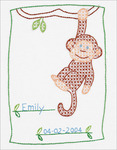 "Monkey - Stamped White Sampler 8""X10"""