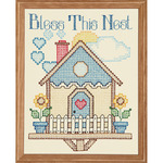 "Stamped Antique Sampler 11""X14""-Bless This Nest"