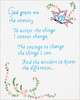 "Serenity Prayer - Stamped White Sampler 11""X14"""