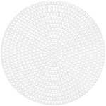 "Plastic Canvas Shapes 7 Count 4.25"" 8/Pkg - Circles Clear"