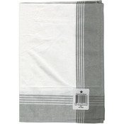 "White & Grey - Striped McCleod Towel 20""X28"""
