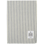 "Navy - Cream Ticking Stripe Towel 20""X28"""