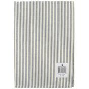 "Navy - Cream Ticking Stripe Towel 20""X28"""