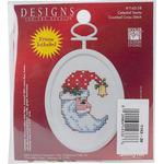 "2.75"" Oval 18 Count - Celestial Santa Mini Counted Cross Stitch Kit"