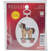"""2.75"""" Oval 18 Count - Christmas Toy Mini Counted Cross Stitch Kit"""