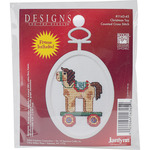 "2.75"" Oval 18 Count - Christmas Toy Mini Counted Cross Stitch Kit"