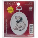 "2.75"" Oval 18 Count - Polar Bear Mini Counted Cross Stitch Kit"