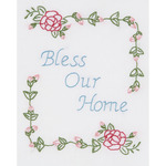 """Bless Our Home - Stamped White Sampler 8""""X10"""""""
