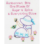 "Stamped White Sampler 8""X10""-Sunbonnet Sue"