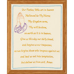 "Stamped Antique Sampler 11""X14""-Lord's Prayer"