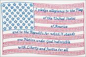 "Pledge Of Allegiance - Stamped White Sampler 11""X14"""