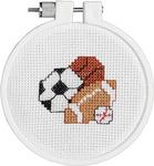 "3"" Round 14 Count - Kid Stitch Play Ball Mini Counted Cross Stitch Kit"