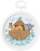 """2.5"""" Round 18 Count - Noah's Ark Mini Counted Cross Stitch Kit"""