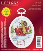 "2.75"" Oval 18 Count - Let It Snow Mini Counted Cross Stitch Kit"
