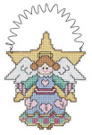 "3.5""X4"" 14 Count - Holiday Wizzers Angel Counted Cross Stitch Kit"