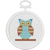"""2.5"""" Round 18 Count - Owl Mini Counted Cross Stitch Kit"""