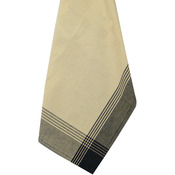 "Striped McCleod Towel 20""X28""-Tea Dye & Black"