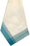 "Striped McCleod Towel 20""X28""-White & Turquoise"